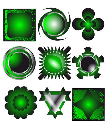 Set of different shapes and color empty icon Stock Vector - 16081607