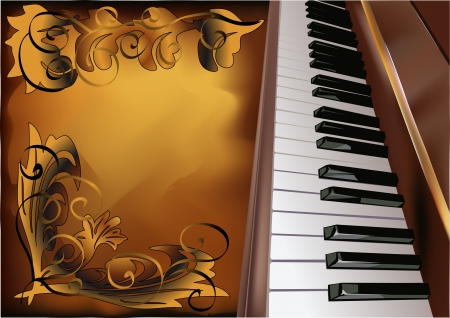 ebony: musical background with piano and pattern