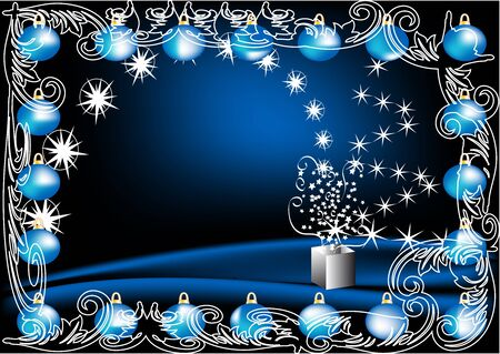 shiny christmas decoration with stars and pattern Stock Vector - 16450416