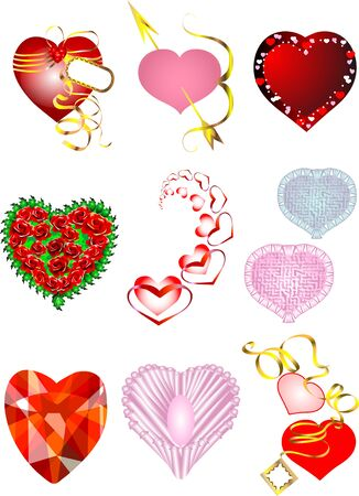 set of hearts for Valentine Stock Vector - 16521580