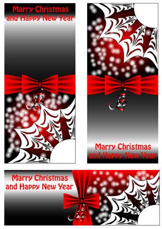 3 Christmas banners isolated on white background Stock Vector - 16582986
