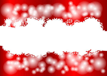 Red Christmas background with star and snow Stock Vector - 16676189