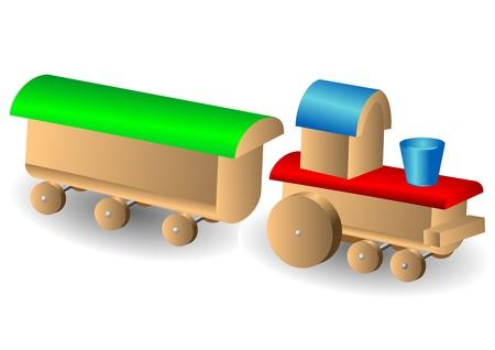 Wooden children s train Stock Vector - 16676185