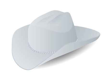 stetson: stetson  hat isolated on the white background Illustration