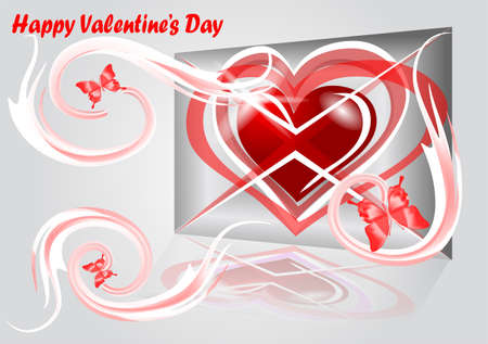 batterfly: abstract background from valentines day  10 EPS