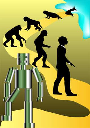human evolution: a new round of human evolution   Illustration