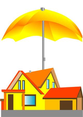 house under the umbrella Stock Vector - 17475074