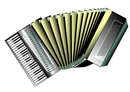 accordion isolated on white background  10 EPS Stock Vector - 17778803