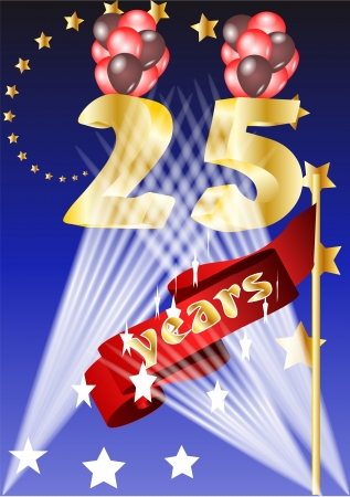 25 years celebration festive background Vector