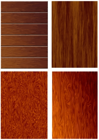 set of the 4 texture of wood Stock Vector - 18409432