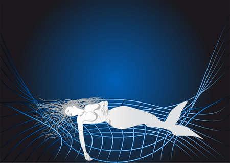 fell: mermaid fell into the net  10 EPS