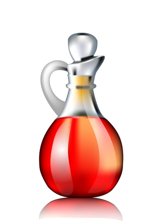 balsamic: Decanter with red wine vinegar