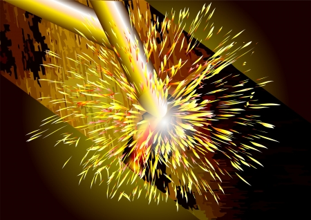 welding iron  abstract background