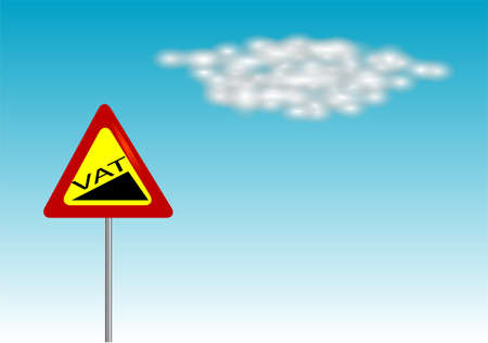 VAT increase sign on blue sky  10 EPS Vector