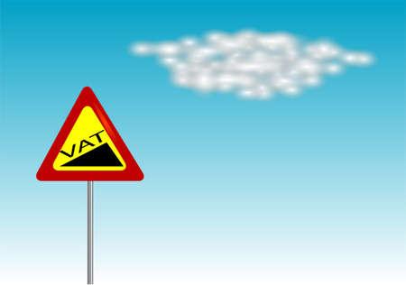 vat: VAT increase sign on blue sky  10 EPS Illustration