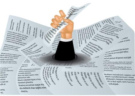 burocracia: em um mar de burocracia homem se afogando em papel