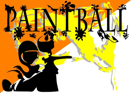 paintball  abstract background  10 EPS without gradients Vector