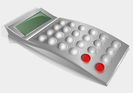 nonexistent: nonexistent calculator isolated on a gray background