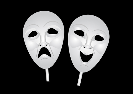 theater masks of drama and comedy Stock Vector - 20554946
