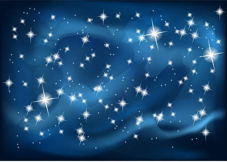 night sky  illustration Stock Vector - 20554064