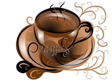 achtergrond met abstracte koffie