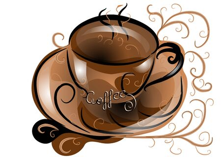 background with abstract coffee