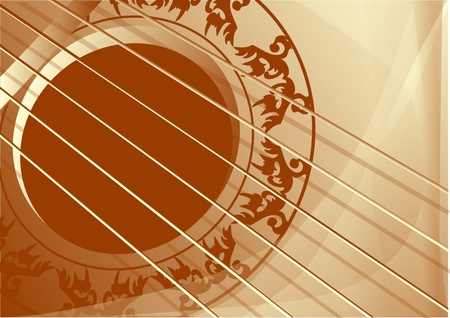 background with part of guitar Stock Vector - 20744520