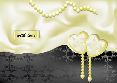 holiday background with white silk  10 EPS Vector