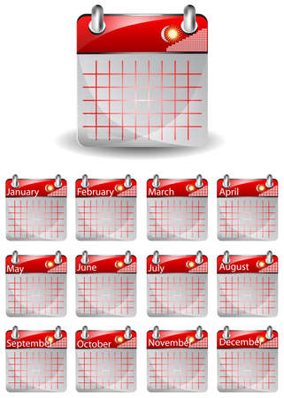 calendar icon isolated on the white background Vector
