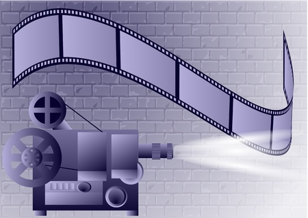 old projector  abstract of the cinema industry Stock Vector - 21037076