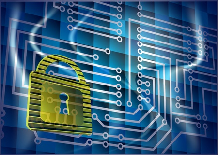 Cyber security  Abstract background with lock and scheme