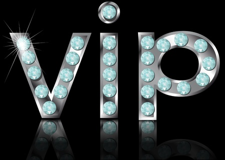 sign vip on black background   Vector