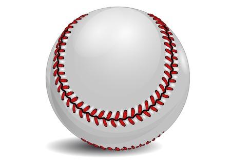 baseball ball isolated on the white background Illustration