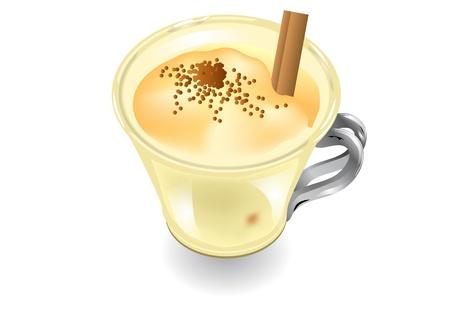 eggnog isolated on white background  10 EPS