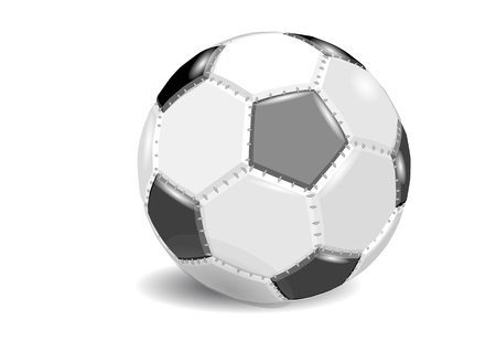 football  soccer ball isolated on white background Stock Vector - 21657384