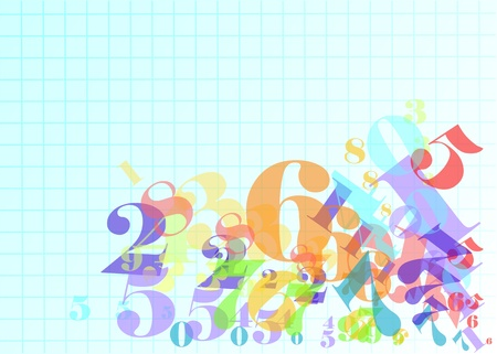 numbers background: arithmetic  abstract background with numbers  10 EPS