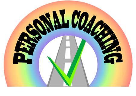coaching: coaching personnel ic�ne abstraite isol� sur blanc