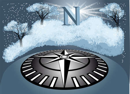 wintry: north  abstract wintry background  10 EPS Illustration