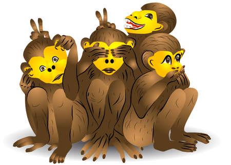see no evil: Three monkey  See no evil, speak no evil, hear no evil