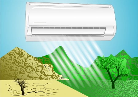 air condition: air conditioner  simbol of comfortable life