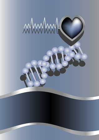 heart and DNA  abstract medical background  10 EPS Vector