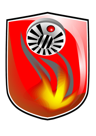 forewarn: fire prevention icon Illustration