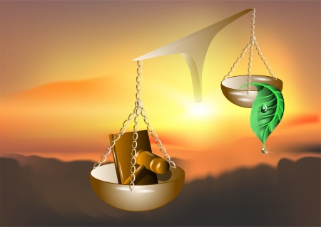 nature and the law  abstract background