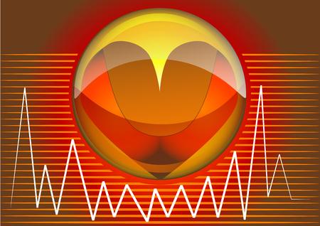 heart rhythms  abstract medical background Vector