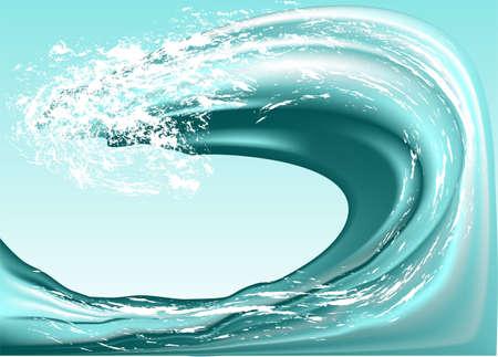 sea wave against the blue sky   Illustration