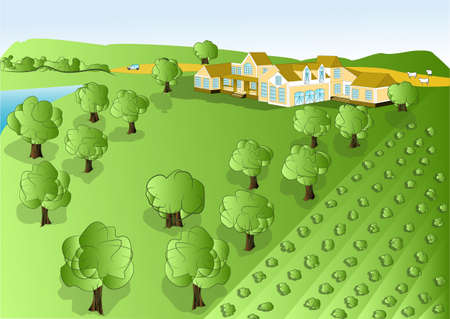 agricultura: illustration agriculture  rural background