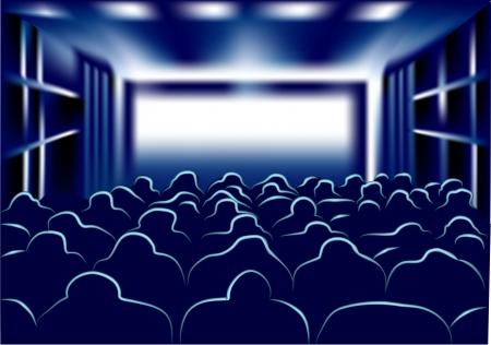 Gente del cine y el teatro de la película Foto de archivo - 23861703