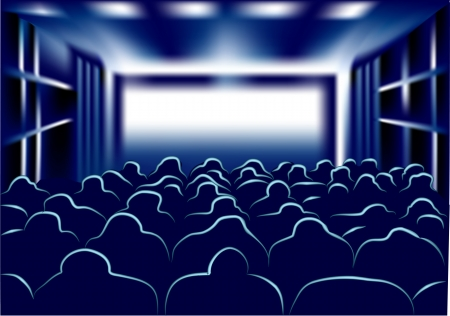 movie and theater  people in the movie Stock Vector - 23861703