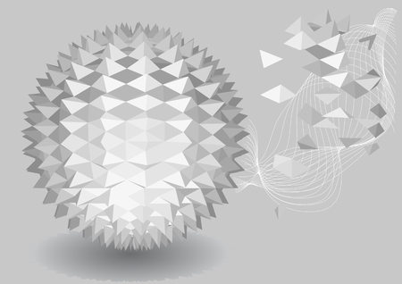 polyhedral: 3d abstract geometric  Illustration