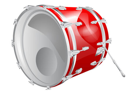 bass drum: bass drum isolated on a white background